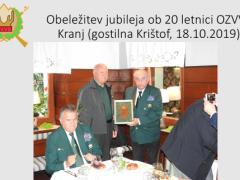 Obeležitev jubileja ob 20 letnici OZVVS Kranj